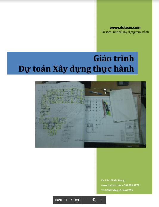 Giáo trình dự toán xây dựng thực hành (Download miễn phí)