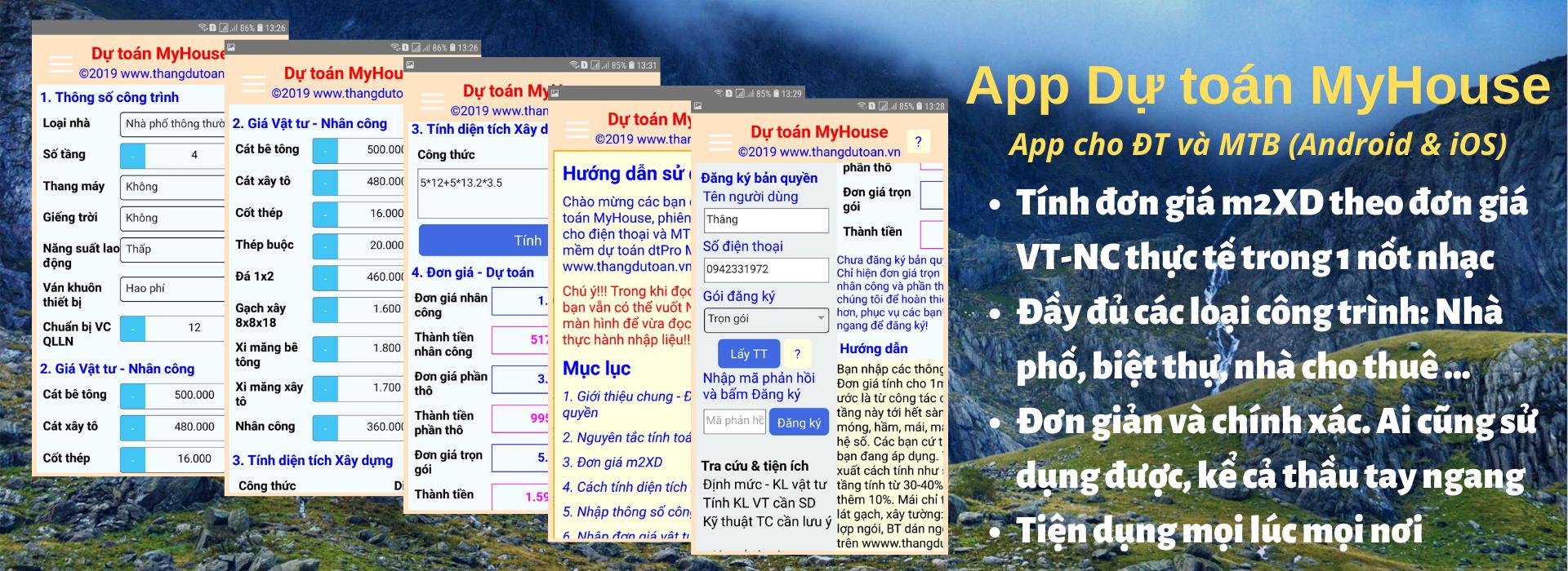 App Dự toán MyHouse