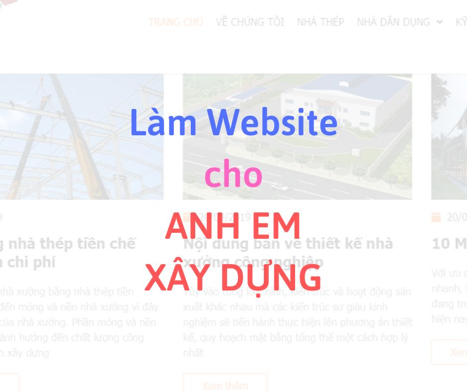 Làm Website cho anh em Xây dựng