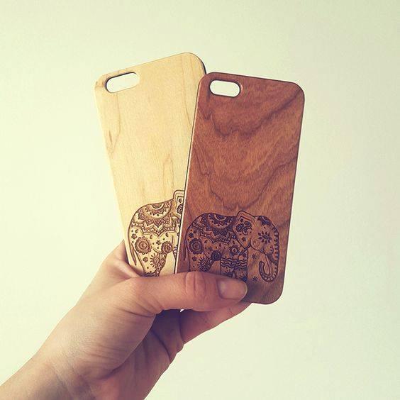 Ốp lưng điện thoại ốp gỗ điêu khắc nhận đặt theo yêu cầu