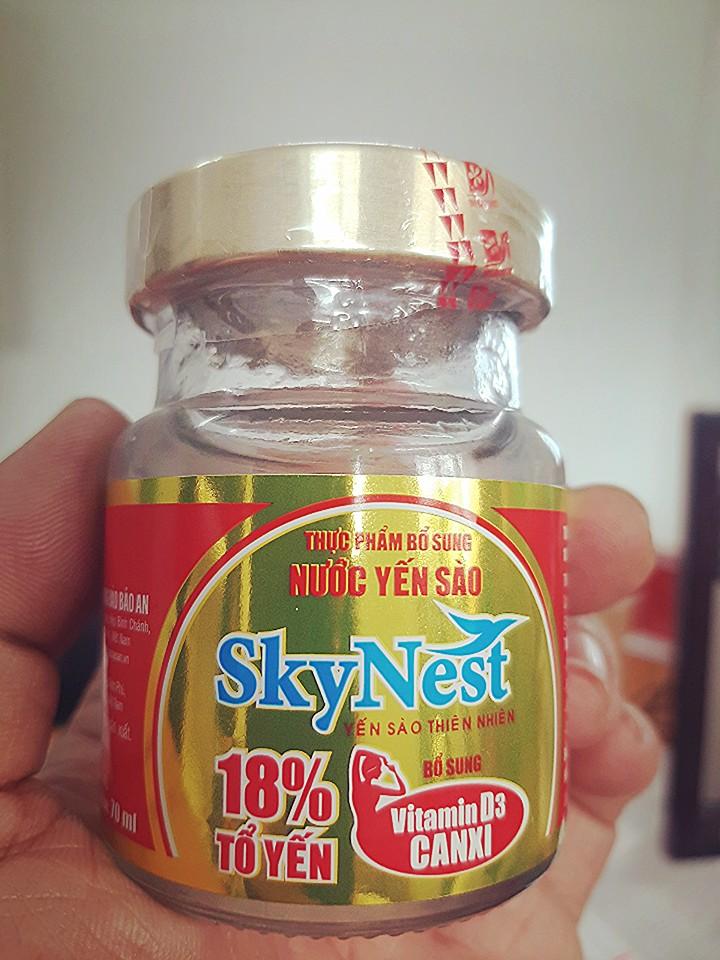 Thực phẩm bổ sung Nước yến sào SkyNest 18% tổ yến Vitamin D3 Canxi lọ 70ml