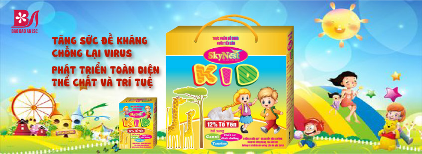 Nước Yến Sào SkyNest Kid, hộp quà 6 lọ