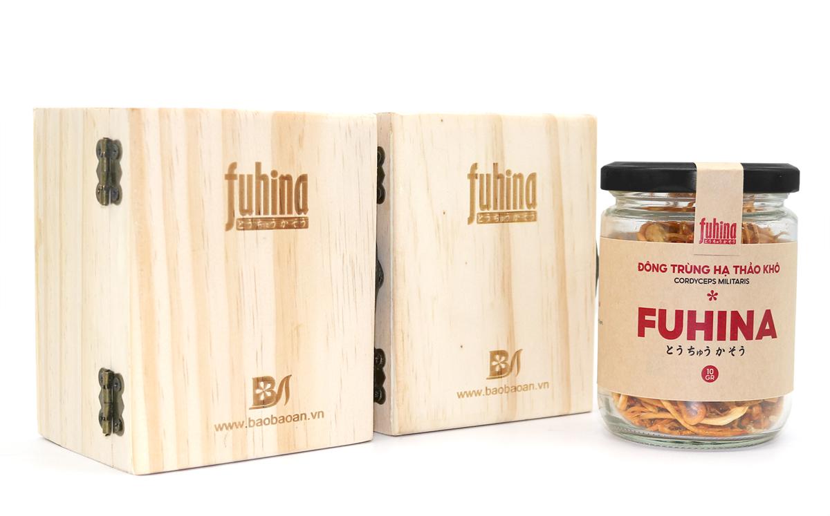 Đông trùng hạ thảo khô FUHINA 10g hộp gỗ xinh xắn