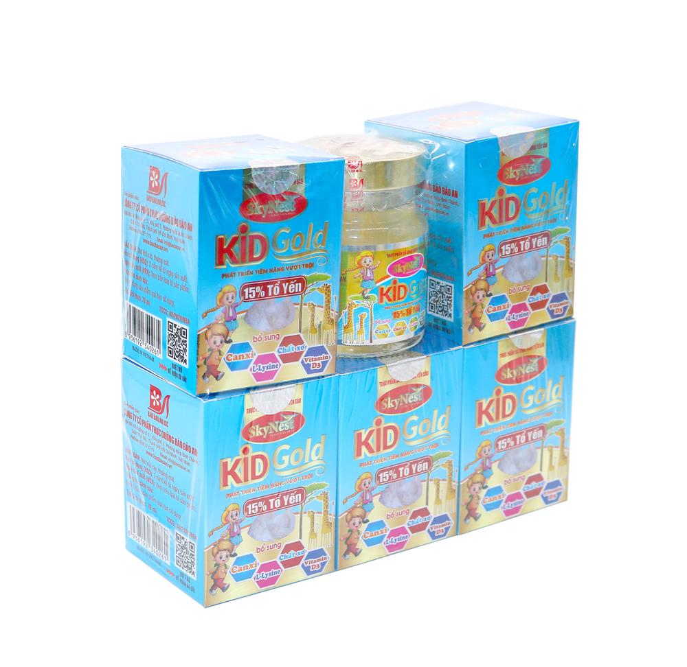 LỐC 5 TẶNG 1 - Thực phẩm bổ sung Nước yến sào SkyNest Kid Gold cho trẻ nhỏ - lọ 70ml