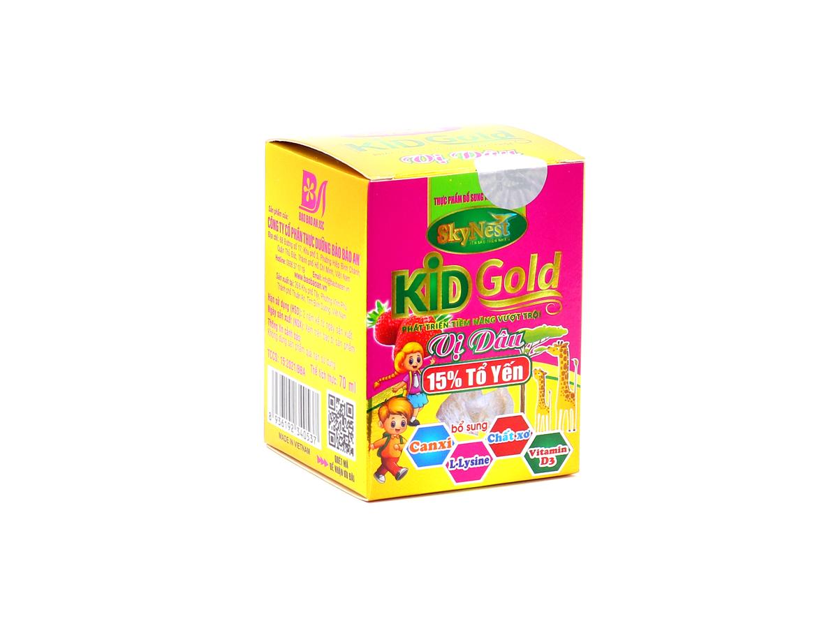 Thực phẩm bổ sung Nước yến sào SkyNest Kid Gold vị dâu cho trẻ nhỏ - lọ 70ml