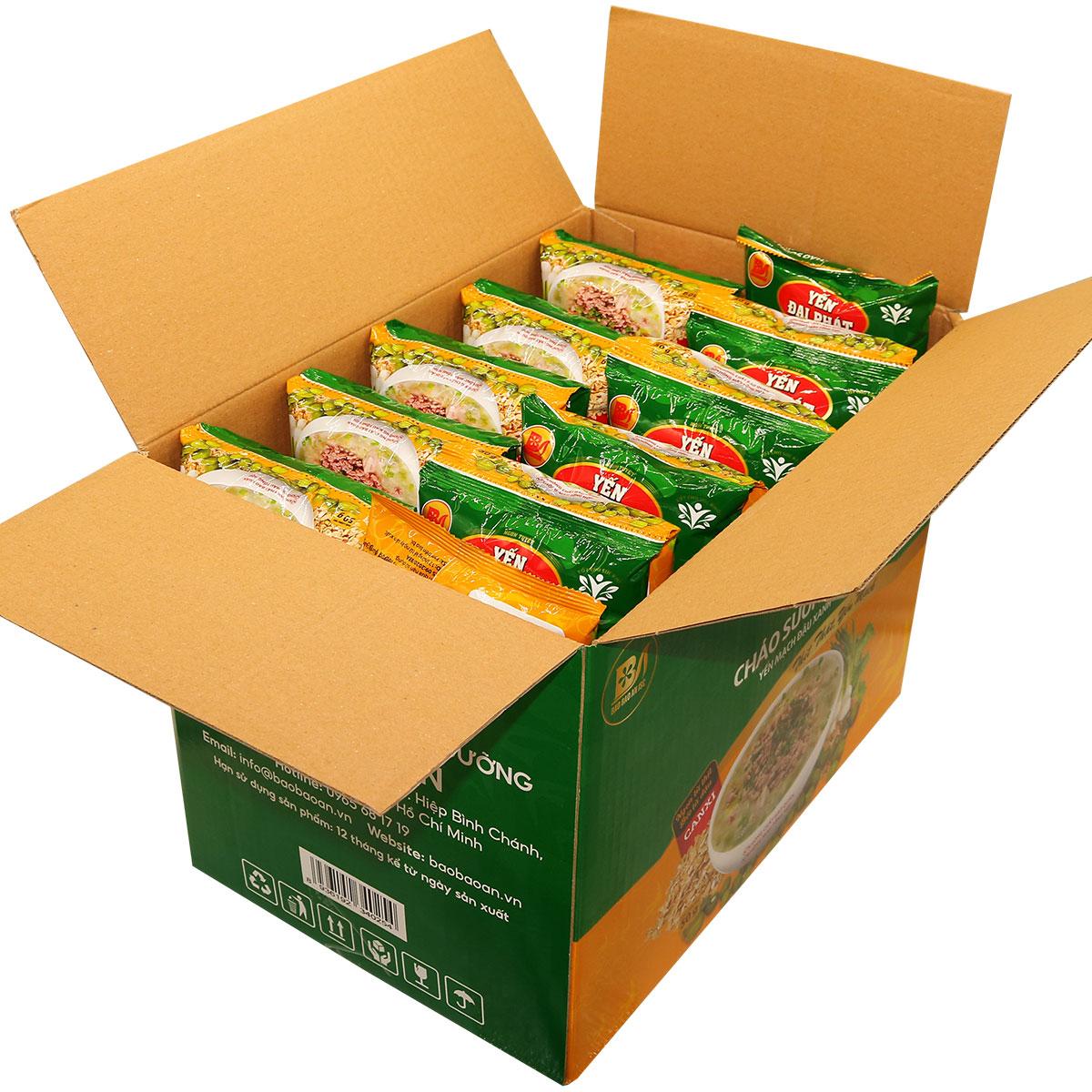 Cháo sườn non yến mạch đậu xanh - Yến Đại Phát - Thùng 40 gói x 50gram