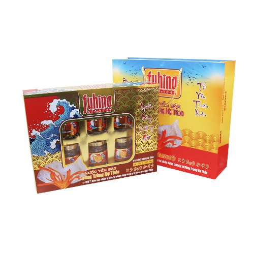 Nước Yến sào Đông trùng hạ thảo FUHINA Hộp quà 6 lọ