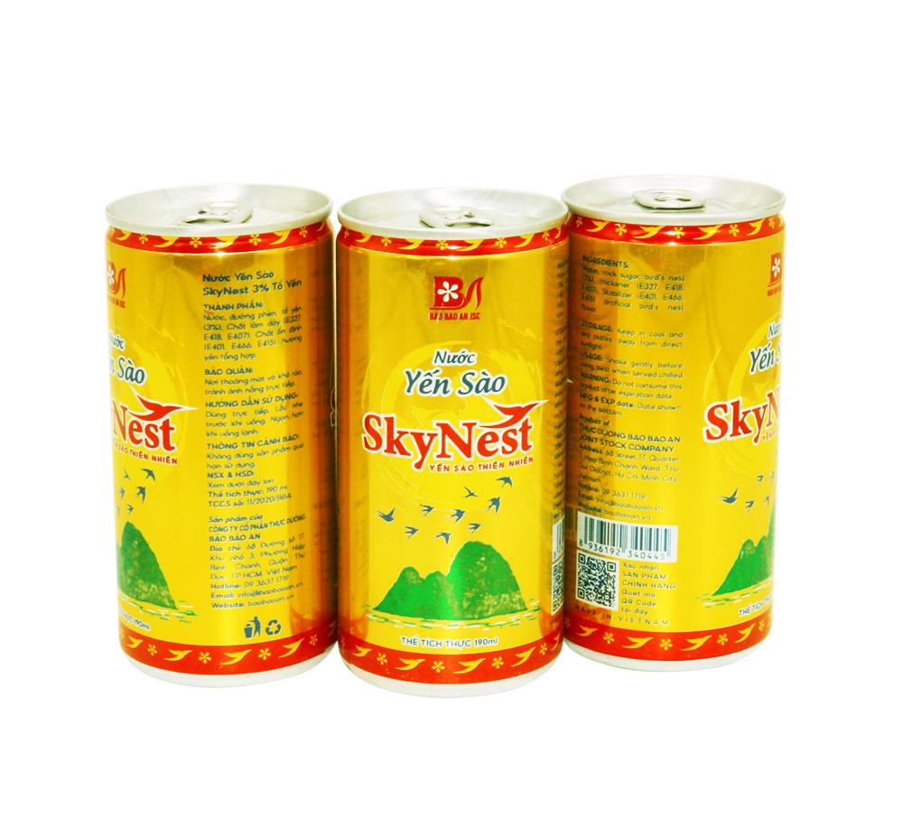 Nước yến sào SkyNest 3% tổ yến - Hộp quà ngang 5 lon