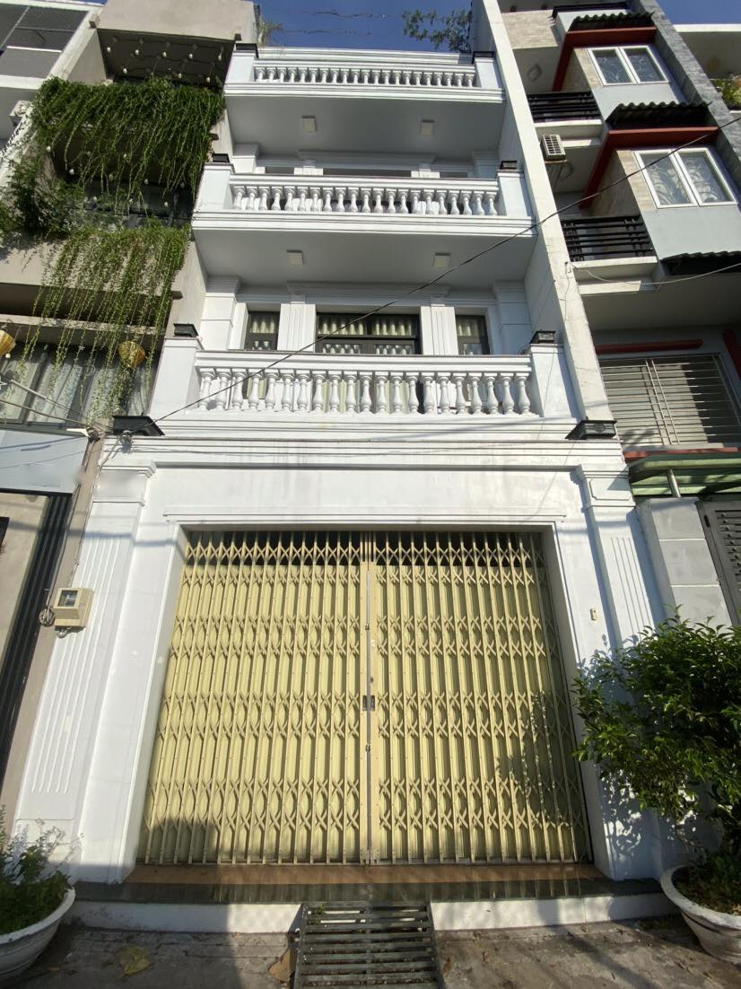 Nhà 4T hẻm huỳnh Tấn Phát, tân thuận tây, 4.84m x12m nở hậu 7.73m