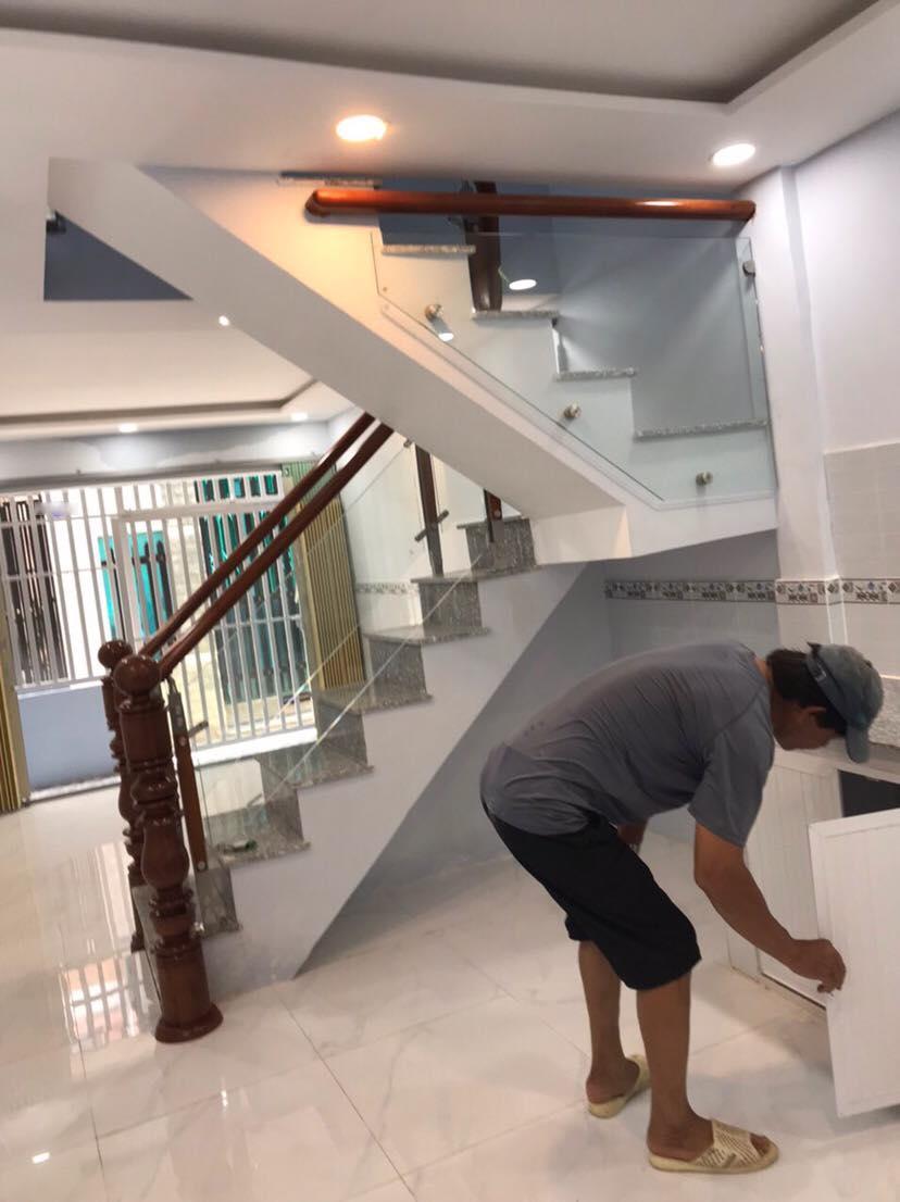 Nhà 2T hẻm Lưu Trọng Lư , tân thuận tây , 3.3m x 10m