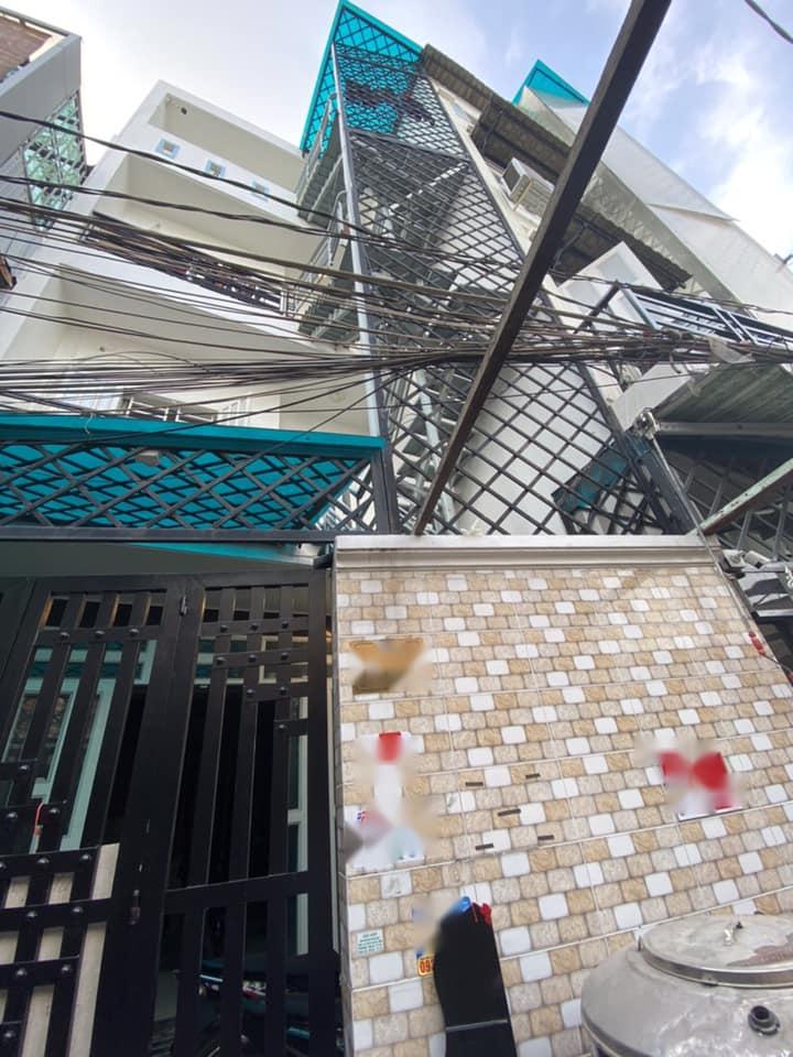Nhà 4T hẻm trần xuân soạn , tân thuận tây , 4.1 m x 13m