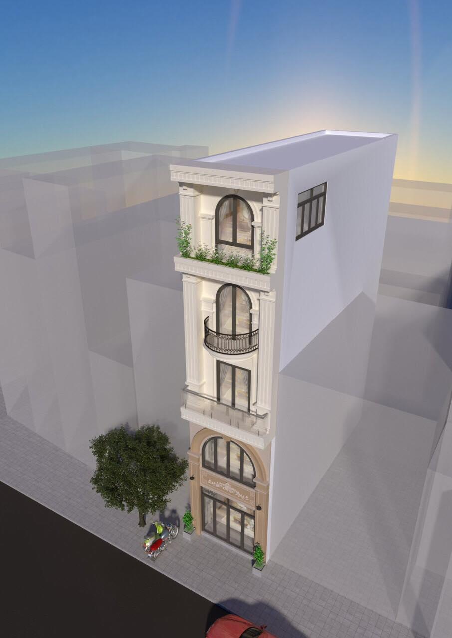 Nhà 5T mặt tiền đường số 7 tân kiểng , 4m x 19.5m