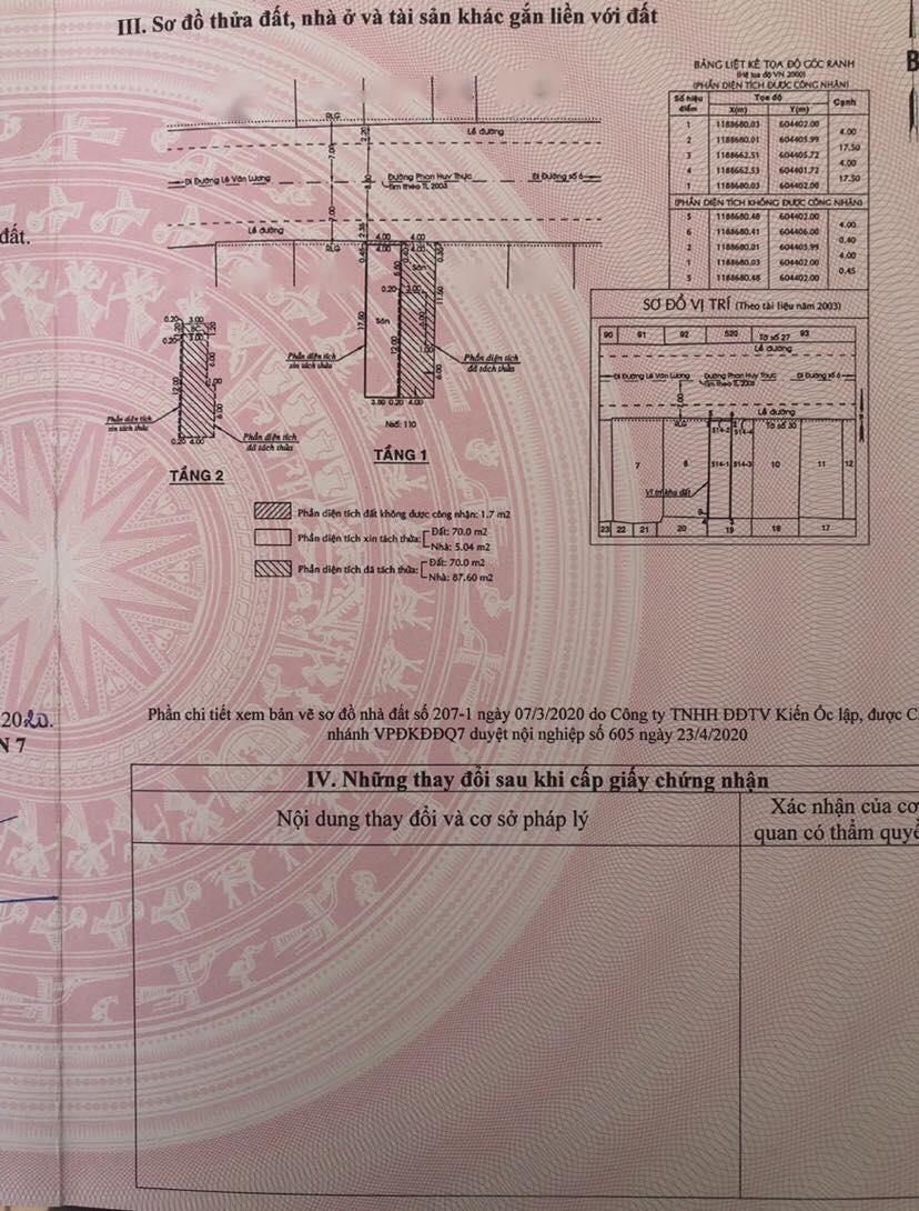 Bán nhà quận 7 Phan Huy Thực 4m x 17.5m chỉ 9 tỷ 2