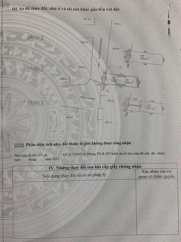 Bán nhà Q7 hẻm 701 trần xuân soạn , 2.72m x 9.1m Nh 2.8m ,1T - 2L chỉ 3 tỷ