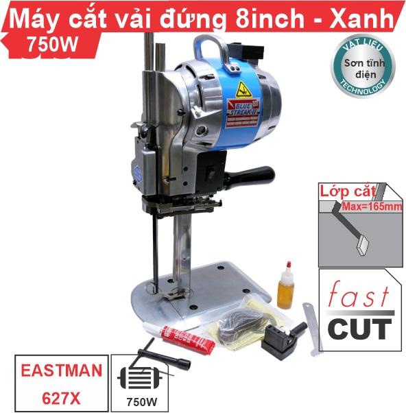 Máy cắt vải đứng 8 inch EASTMAN 627X vỏ sơn tĩnh điện uy tín, giá rẻ