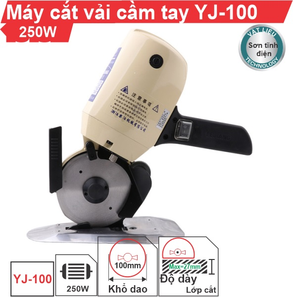 Máy cắt vải cầm tay YJ-100 giá rẻ, uy tín, chất lượng tốt nhất