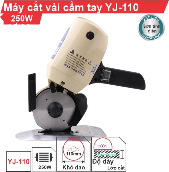 Máy cắt vải cầm tay YJ-110 chính hãng cao cấp, uy tín, giá rẻ