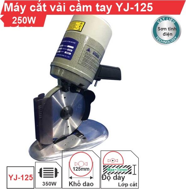 Máy cắt vải cầm tay YJ-125 chính hãng cao cấp, uy tín, giá rẻ