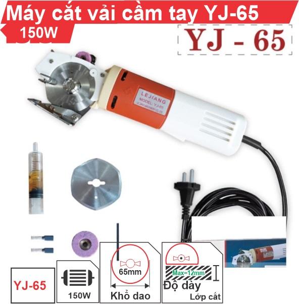 Máy cắt vải cầm tay YJ-65 chính hãng, siêu bền, giá rẻ