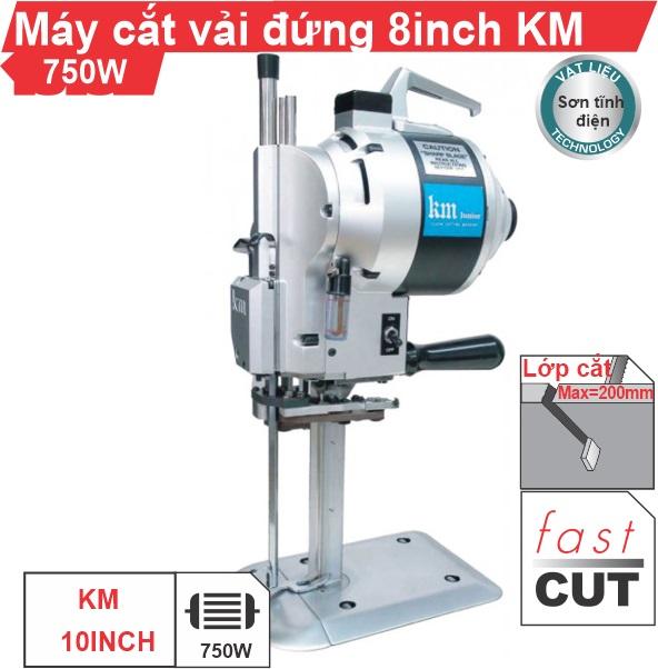 Máy cắt vải đứng 8 inch KM cao cấp, nhập khẩu chính hãng, giá rẻ