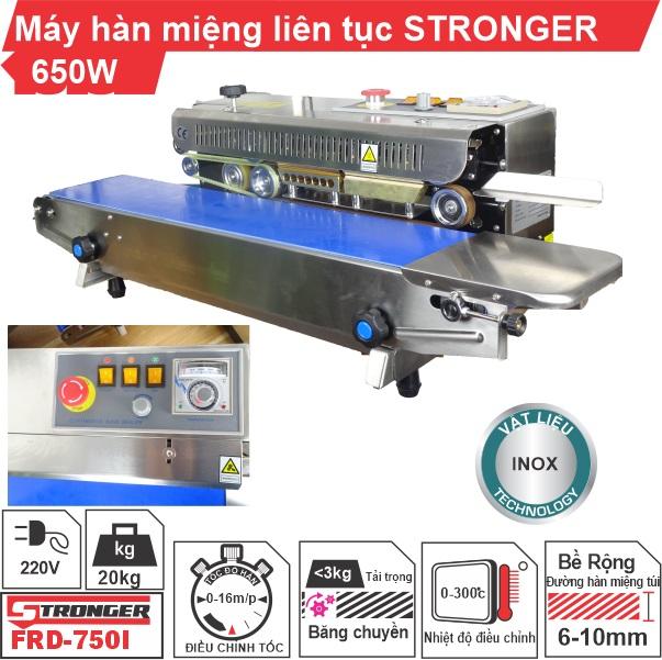 Máy hàn miệng túi liên tục Stronger vỏ inox FRD-750-IN giá rẻ