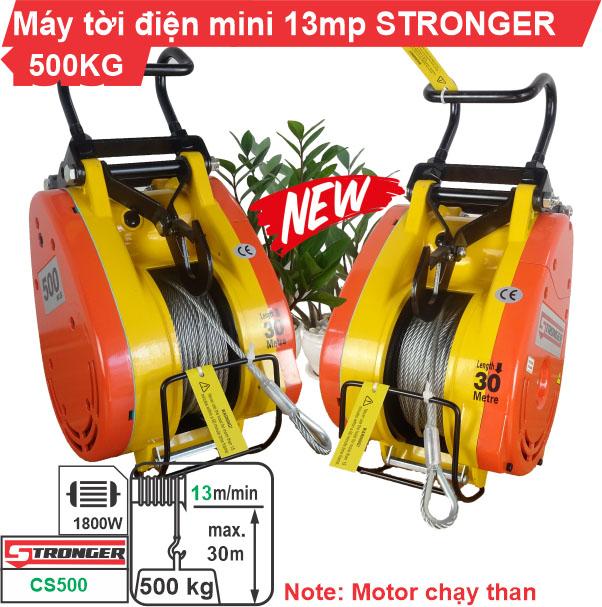 Máy tời điện mini STRONGER 500kg CS-500 cao cấp, giá rẻ