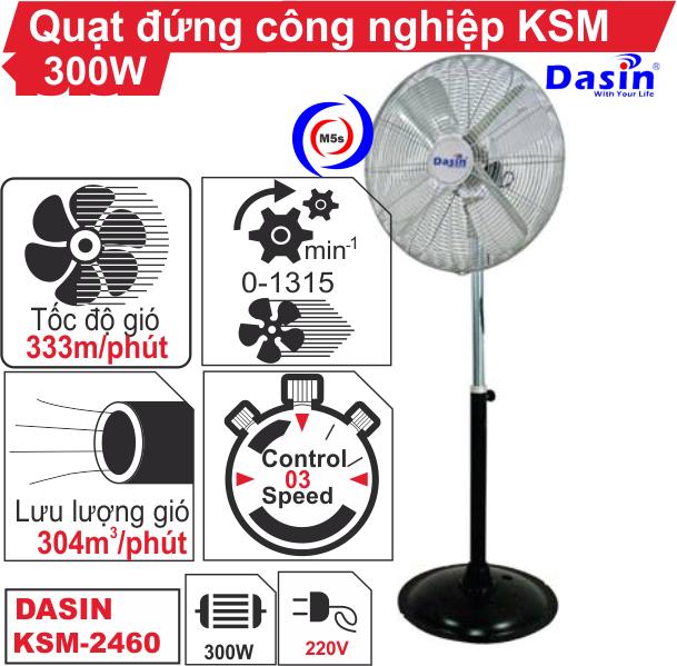 Quạt đứng công nghiệp KSM-2460