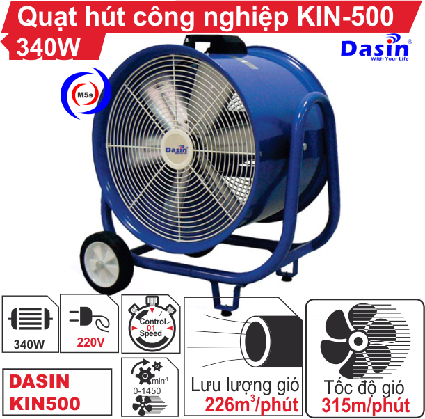 Quạt hút công nghiệp KIN-500