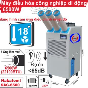 Máy lạnh di động công nghiệp Nakatomi SAC-6500