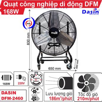 Quạt công nghiệp di động Dasin DFM-2460