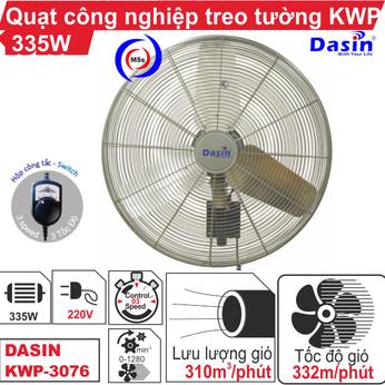 Quạt treo tường công nghiệp Dasin KWP-3076 220V