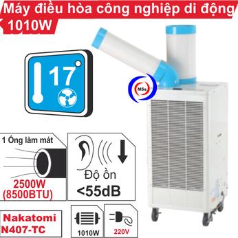 Máy lạnh di động công nghiệp Nakatomi N407-TC