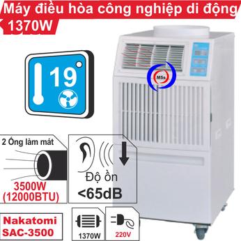 Máy lạnh di động công nghiệp Nakatomi SAC-3500
