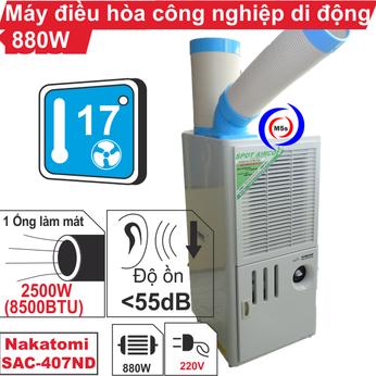 Máy lạnh di động công nghiệp Nakatomi SAC-407ND