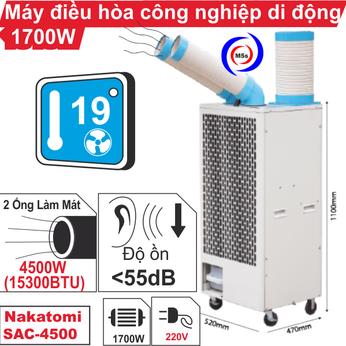 Máy lạnh di động công nghiệp Nakatomi SAC-4500