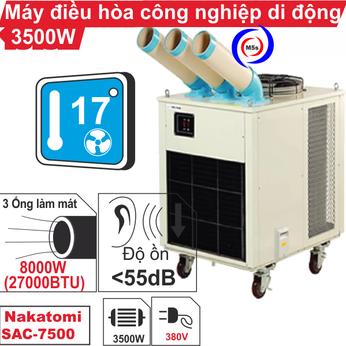 Máy lạnh di động công nghiệp Nakatomi SAC-7500 380V
