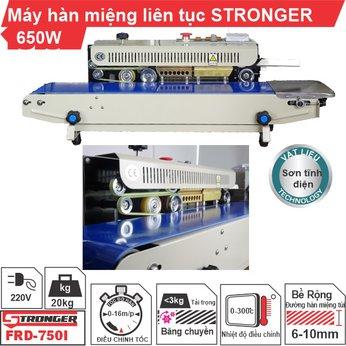 Máy hàn miệng túi liên tục STRONGER FRD-750-VS vỏ sơn tĩnh điện