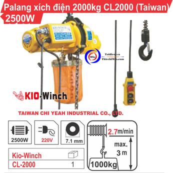 PALĂNG XÍCH ĐIỆN 2000KG KIO WINCH CL-2000
