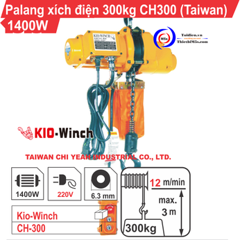 PALĂNG XÍCH ĐIỆN 300KG KIO WINCH CH-300
