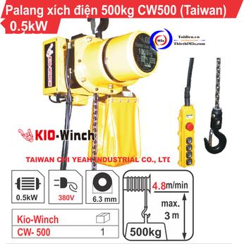 PALĂNG XÍCH ĐIỆN 500KG KIO WINCH CW-500