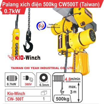 PALĂNG XÍCH ĐIỆN 500KG KIO WINCH CW-500T