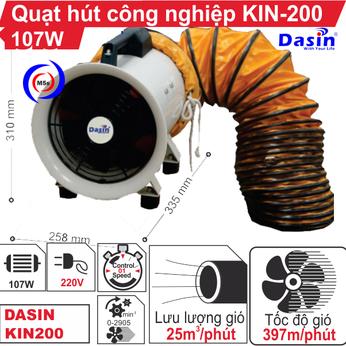 Quạt hút công nghiệp Dasin KIN-200
