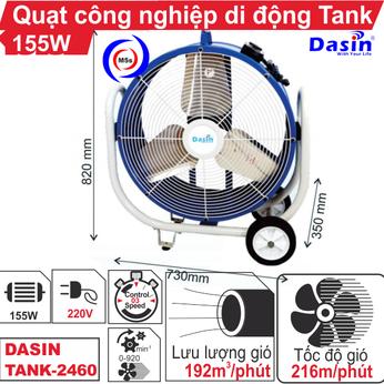 Quạt công nghiệp di động Tank-2460