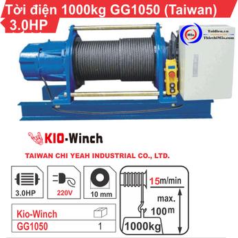 TỜI ĐIỆN 1 TẤN KIO WINCH GG-1050
