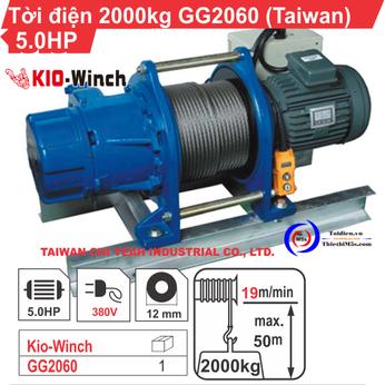 TỜI ĐIỆN 2 TẤN KIO WINCH GG-2060