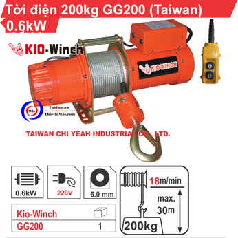 TỜI ĐIỆN KIO WINCH GG-200 200KG