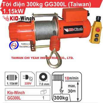 TỜI ĐIỆN KIO WINCH GG-300L 300KG