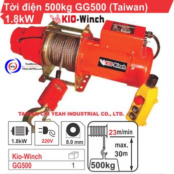 TỜI ĐIỆN KIO WINCH GG-500 500KG