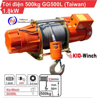TỜI ĐIỆN 500KG KIO WINCH GG-500L