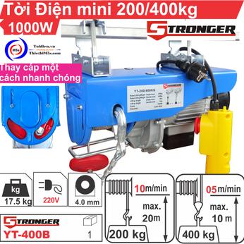 TỜI ĐIỆN MINI 200-400KG STRONGER YT-400B